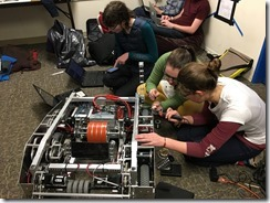 Team 1540 FRC Robot Zuko Being Built and Tuned by Team