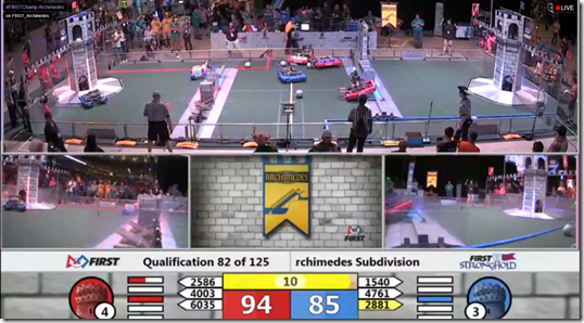 Live stream of FORST Robitics Worlkd Championship