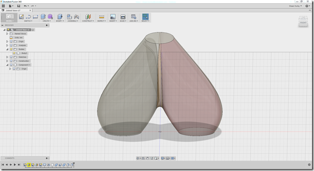 Autodesk Fusion Joined Vase