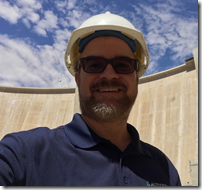 Shaan at the site of the big dam project