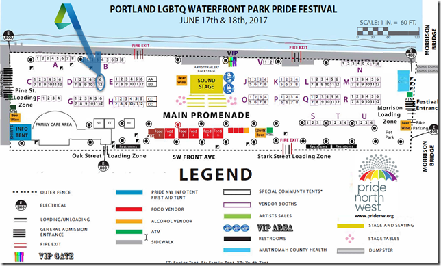 Porland Pride 2017 Map