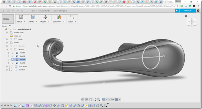 Fusion 360 in the browser