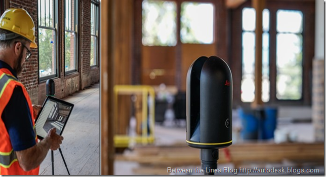 Shaan Hurley using the Leica BLK360 laser scanner on a construction project