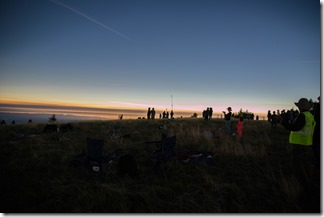 Watching the total eclipse on Marys Peak
