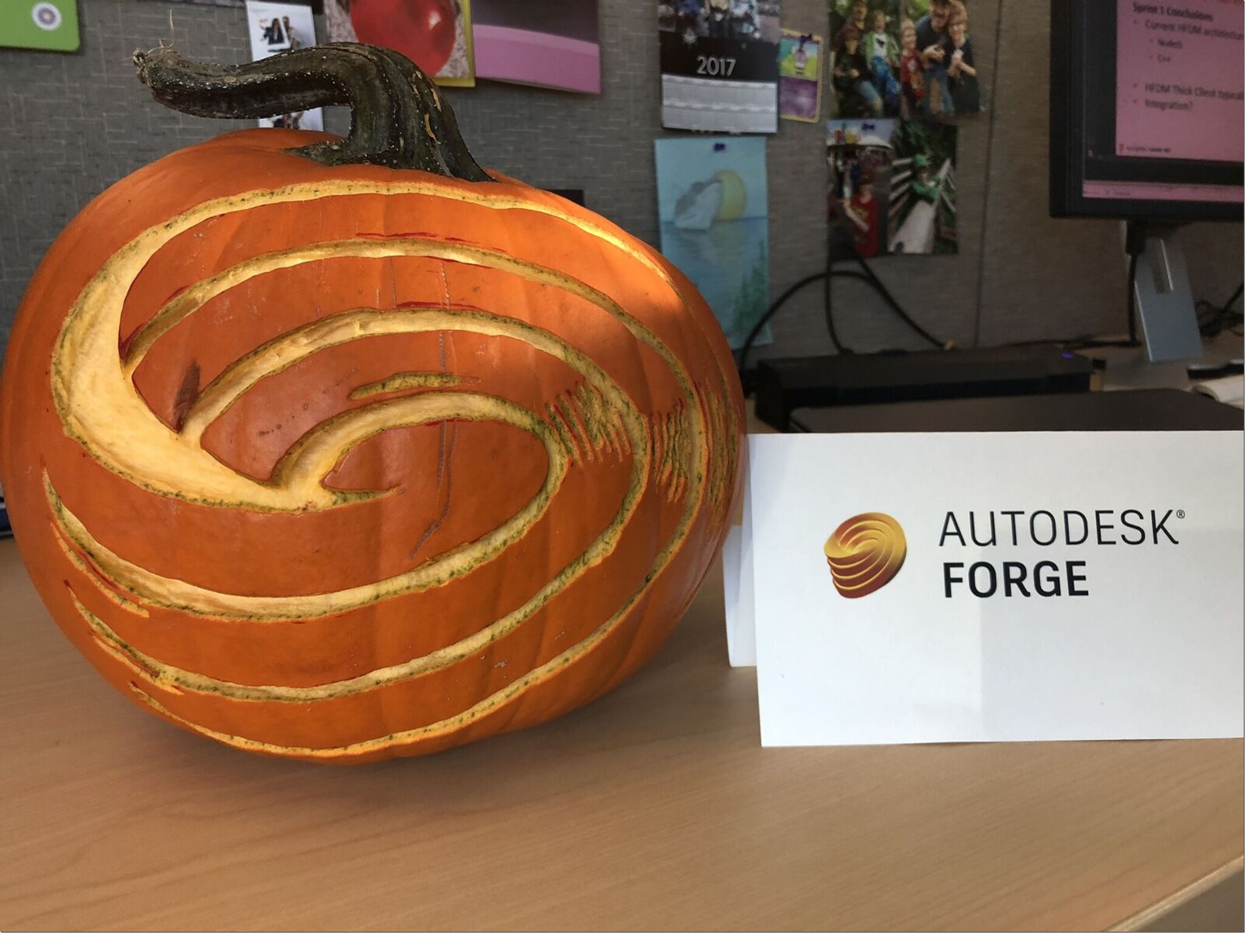 Autodesk Forge Pumpkin by Michelle Stone.
