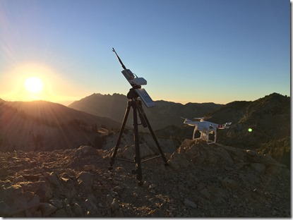 My Custom Drone Setup on the Summit of Sunset Peak at 11,000 Feet
