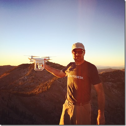 Me and My Drone on the Sunset Peak Summit at 11,000 Feet Elevation