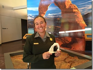 Karen of the Arches National Park Visitor Center and the 3D Print