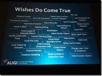 AutoCAD Wishes Come True AU2014