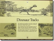 Dinosaur Tracks Exhibit Sign at Glen Canyon Dam