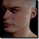 physically-based rendering GGX BRDF and filmic tonemapping - head model by Lukáš Hajka, eye model by MmAaXx