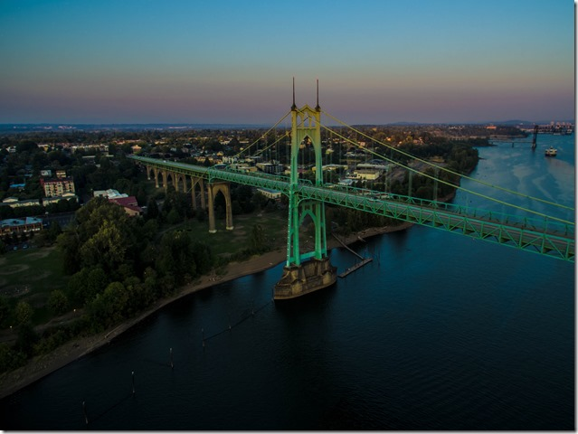 Portland's St Johns Bridge Photo Taken by UAV