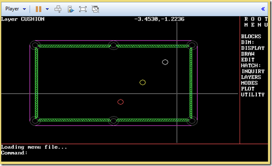 AutoCAD 2.18 from 1985 in a virtiual machine