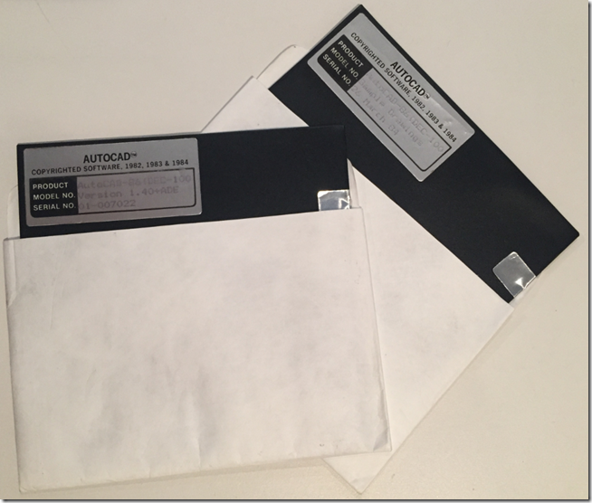 Thread tbt throwback thursday autocad 1 4 floppies