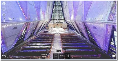 United States Air Force Academy Cadet Chapel point cloud in Autodesk ReCAP