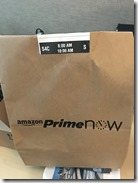 Amazon Prime Now Delivery Pkg