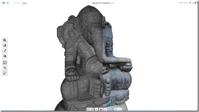 3D textured model of wood statue of Ganesha photographed in Bali Indonesia and used Autodesk Memento to generate 3D model from photos