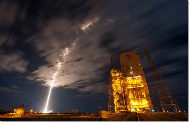 Launch from NASA Kennedy Space Center on Cape Canaveral to the International Space Station of the Orbital Cygnus cargo ship
