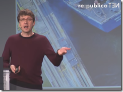 Autodesk CTO Jeff Kowalski speakinmg at re:publica 2016 conference in Berlin Germany