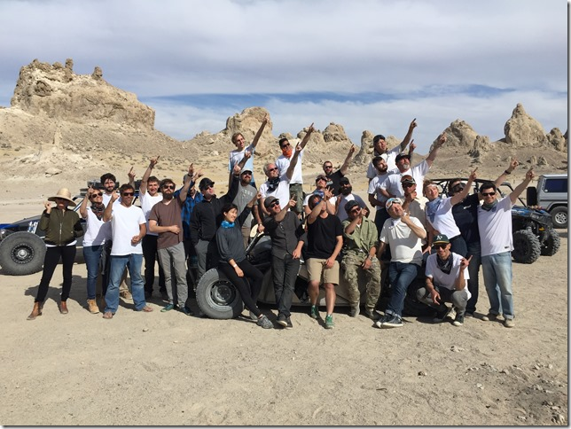 Hackrod Team in the Trona Pinnacles