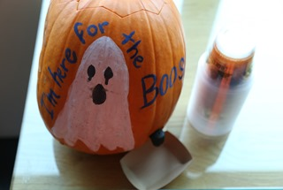 """I'm Here for the Boos"" Pumpkin"