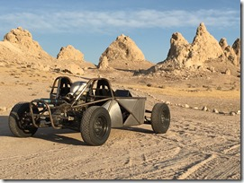 Photo of Hack Rod test mule atTrona Pinnacles by Shaan Hurley
