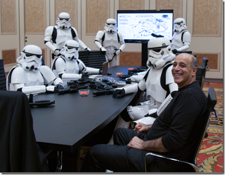 Meeting photo I took when Jonathan Knowles and myself surprised Carl Bass with Storm Troopers at Autodesk University 2015