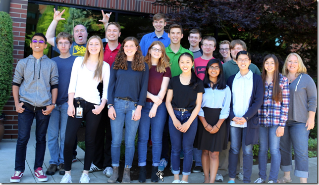 Autodesk Lake Oswego High School Summer Interns 2017