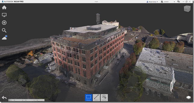 Export the point cloud and use the data in Autodesk ReCap Pro