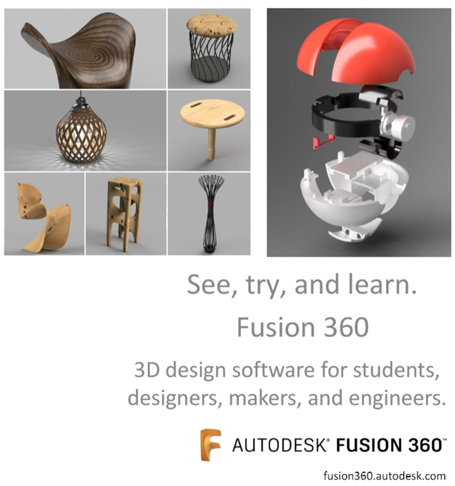 See, try, and learn Fusion 360