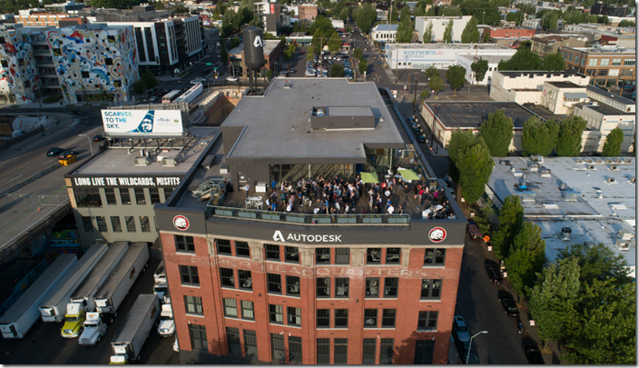 cccccccccccccccAerial view of the ribbon cutting and grand opening celebration.