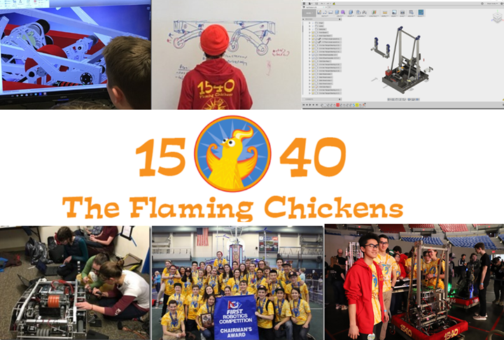 FIRST FRC TEam 1540 Flaming Chickens