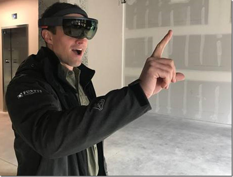 Phil wearing a Microsoft Hololens unit for MR