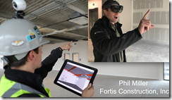 HoloLens used by Fortis Construction Portland.