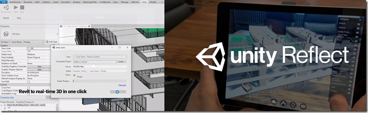 Unity Reflect - Revit to Unity in one click
