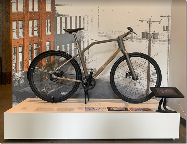 SOLID bike on display in Autodesk Portland