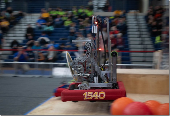 Team 1540 Flaming Chickens 2019 Robot Phineas