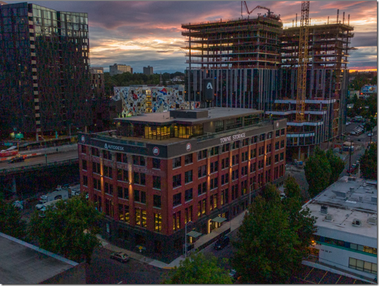 Autodesk Portland surrounded by an ever changing Central Eastside Industrial District neighborhood of Portland