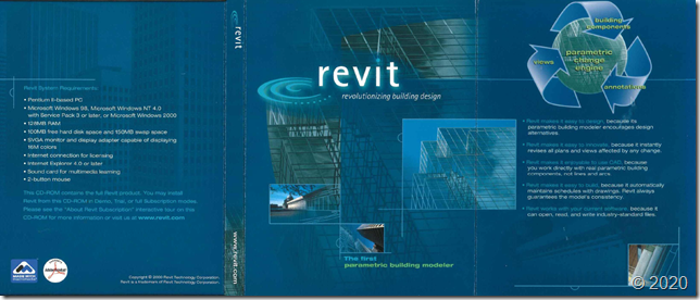 Throwback Thursday with Revit 1.0 circa 2000