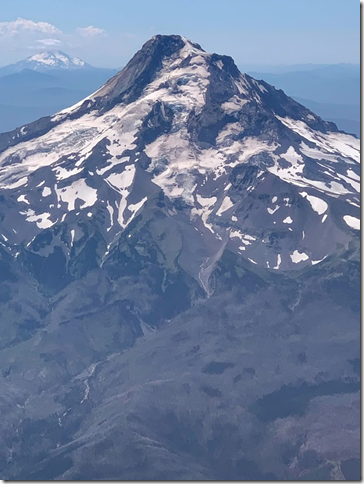 Mt Hood on flight home