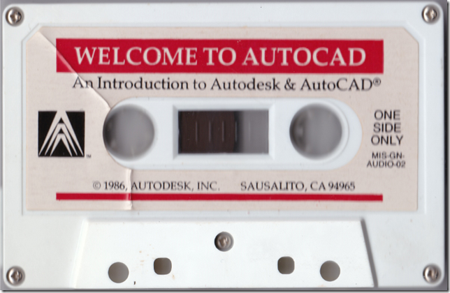 Learn AutoCAD Cassette from 1986
