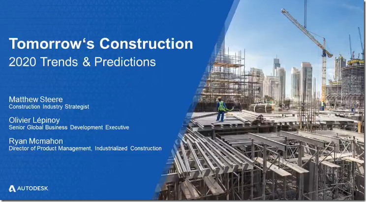 Tomorrow's Construction: 2020 Trends and Predictions Webinar