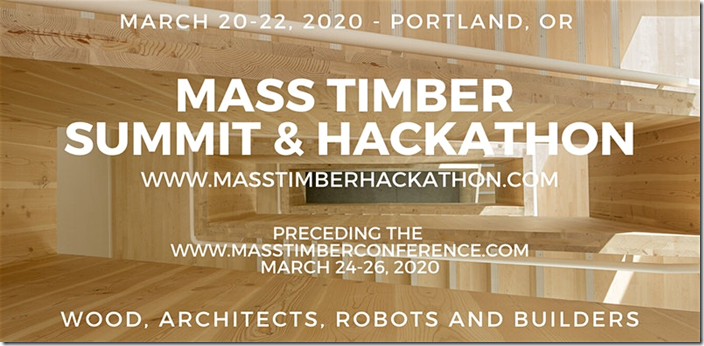Mass Timber Workshops and Hackathon