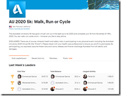 AU 2020 5k Walk Run or Cycle