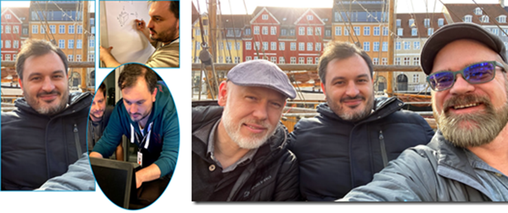 Paolo Serra at the 2020 AEC Hackathon in Copenhagen Denmark. It was an honor to be there with Paolo and Autodesk Consulting's Jan Liska