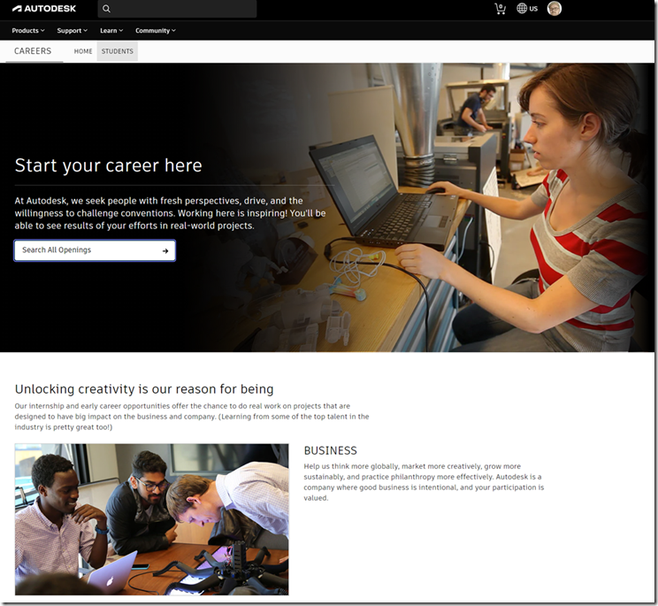 Autodesk Jobs for Students