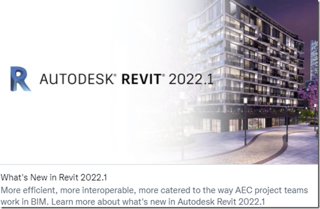 What's New in Revit 2022.1