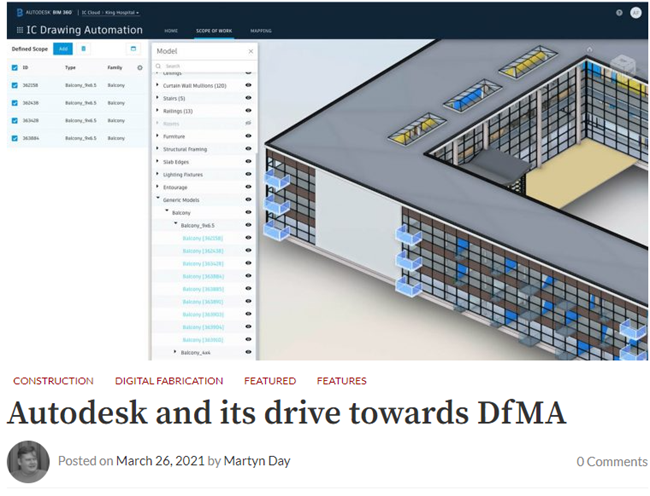 Autodesk and its drive towards DfMA