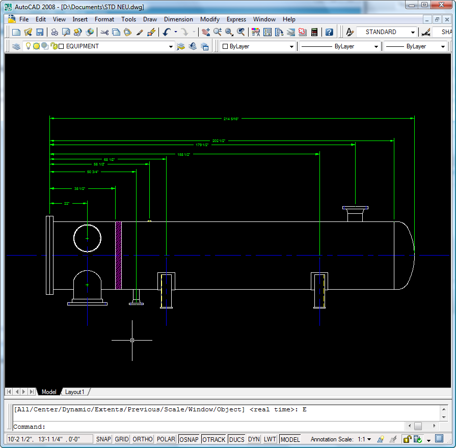 AutoCAD 2008 Tip Adjust the Dimension Spacing (Between the Lines)