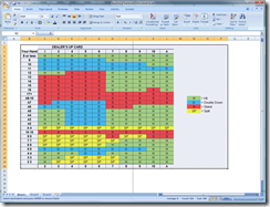 MS Excel Spreadsheet